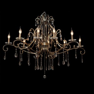 Chandelier with crystal 77905-10 Brons