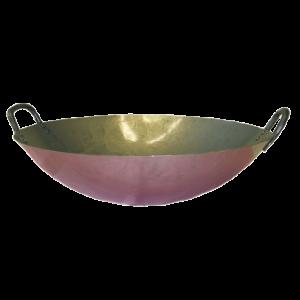 Iron wok with 2 handles